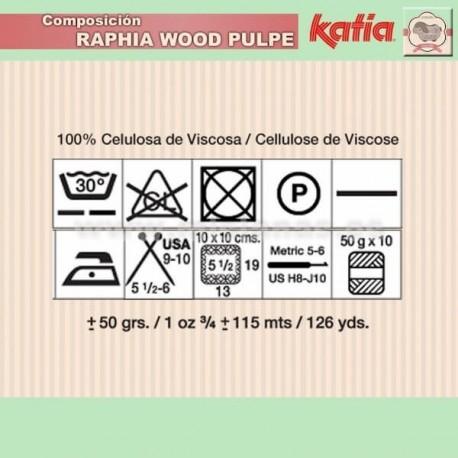 Raphia Katia - Marron 85